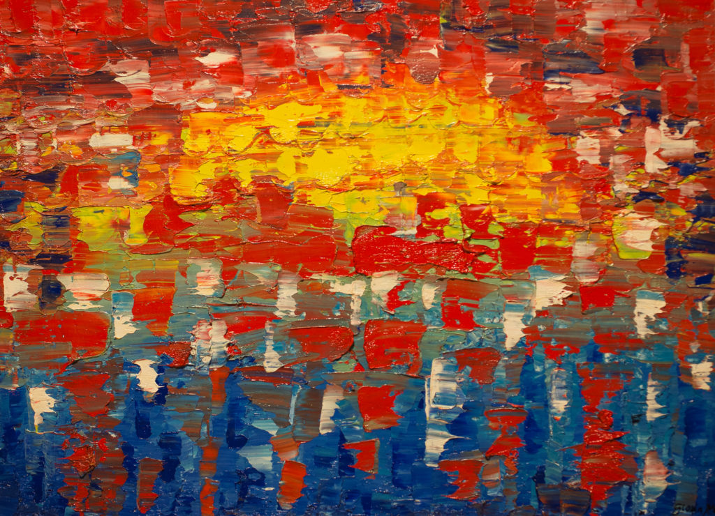 Title: Summer Sun Rising,  Medium: Oil,  Dimension: 25 X 19 Inches,  Frame: Wood,  Price: NFS