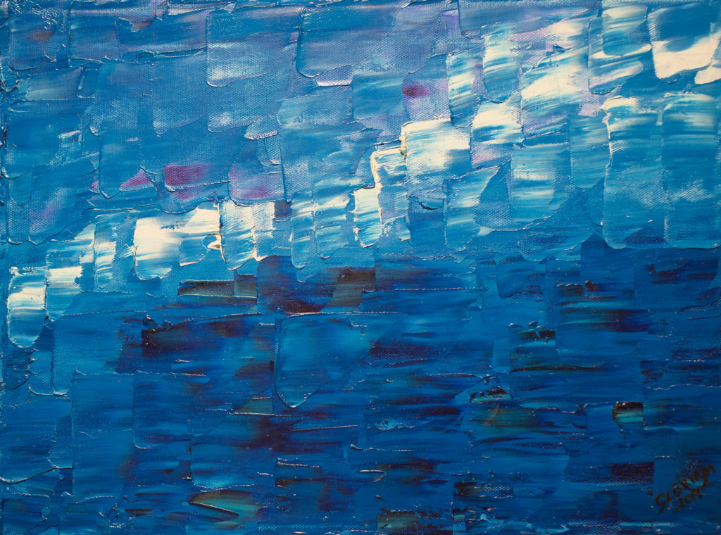 Title: Blue Ocean,  Medium: Oil,  Dimension: 17 X 13 Inches,  Frame: Metal,  Price: Contact the Artist