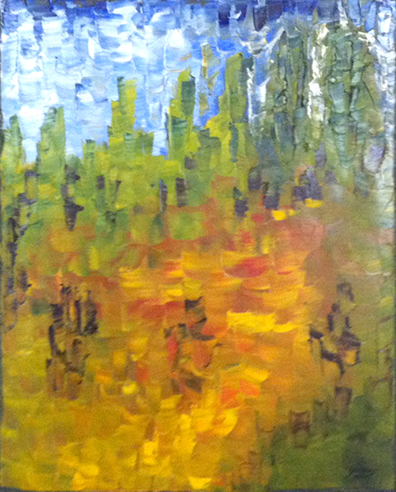 Title: Trail in the Forest,  Medium: Oil,  Dimension: 17 X 21 Inches,  Frame: Metal,  Price: Contact the Artist