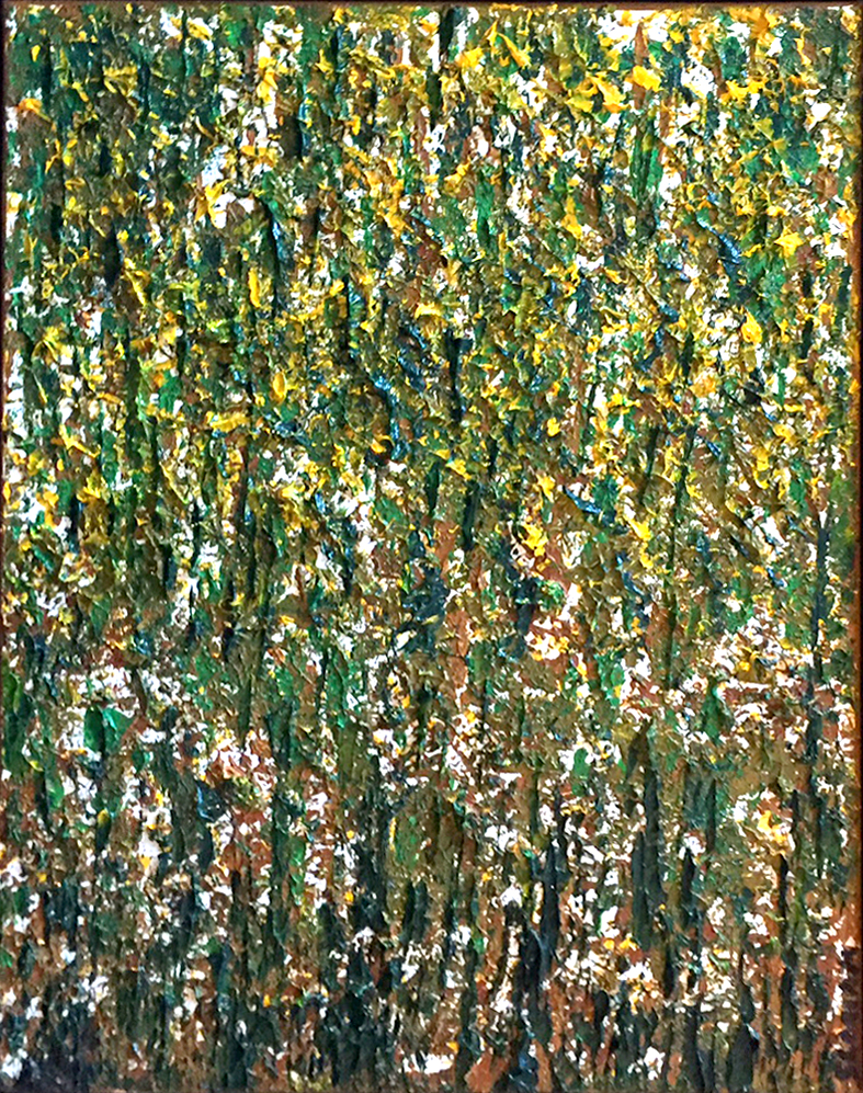 Title: Forest in the Fall,  Medium: Oil,  Dimension: 13 X 17 Inches,  Frame: Metal,  Price: Sold