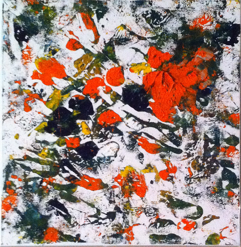 Title: Wild Fire,  Medium: Oil,  Dimension: 14 X 14 Inches,  Frame: Metal,  Price: NFS