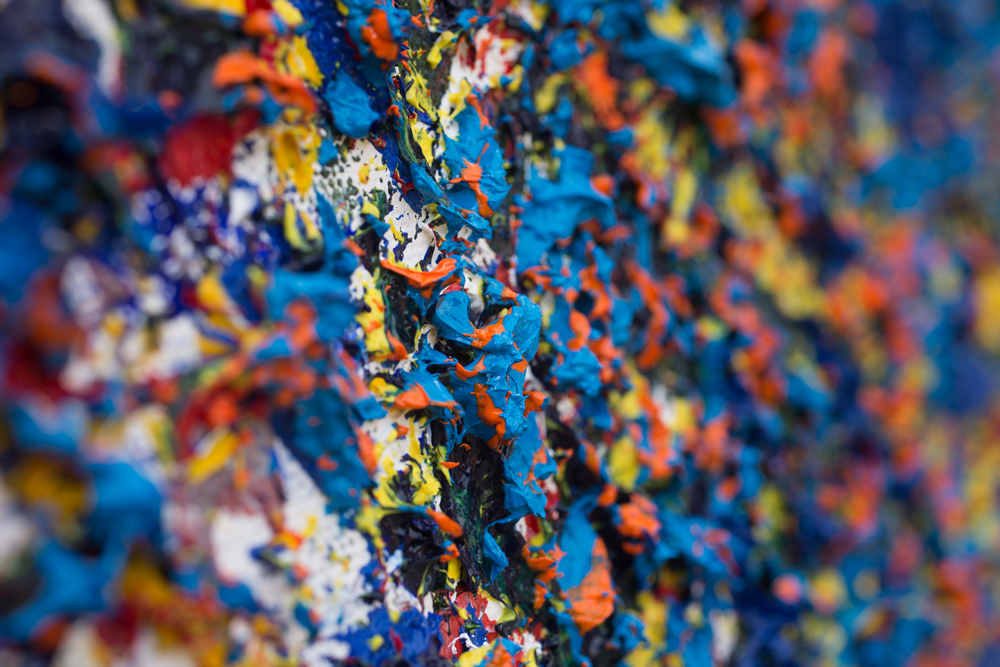 Title #1: Disperse Life (Close Up), Medium: Oil on Canvas Dimension: 24 x 24 inches, Price: NFS