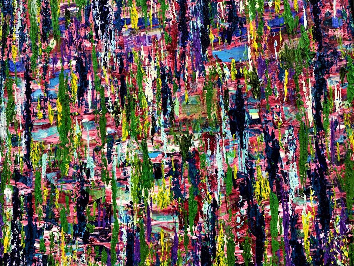 "Kensington Landscape /   Medium: Mixed Media - Collage w/ Texture on Wood Board / Size: 25""x19"""