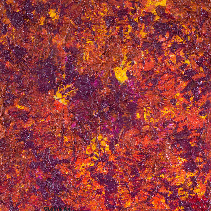 "Purple Yellow Fall /  Medium: Oil on Canvas /   Size: 13""x13"""