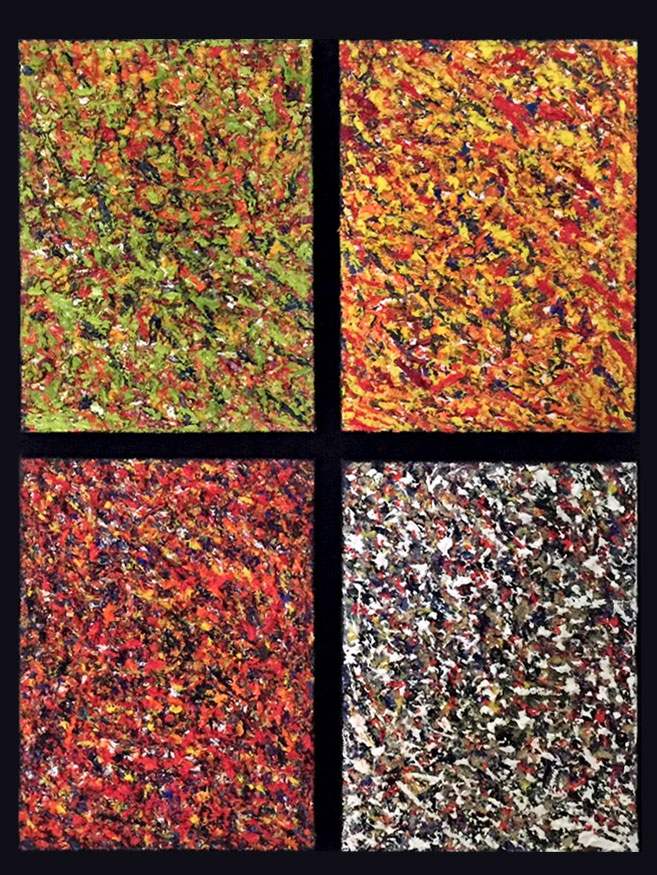 "Four Seasons from Within Composition / Medium: Oil w/ Texture on Canvas / Size: 25"" x 30"""